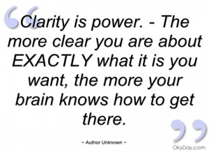 Clarity Quotes and Sayings