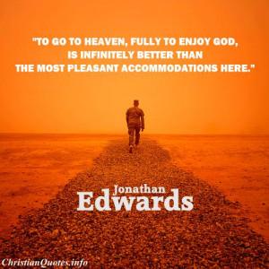 Jonathan Edwards Quote...