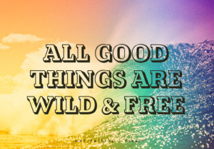 ... 500 marian16rox: All good things are wild and free. Enjoy life