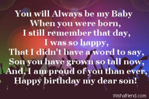 happy birthday son quotes facebook