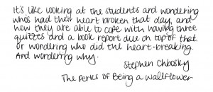 tags # stephen chbosky # quote # the perks of being a wallflower a ...