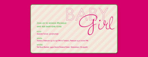 baby girl, baby shower, girl, pink, stripes
