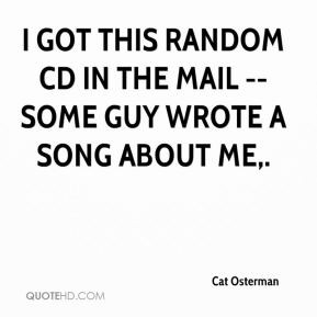 Cat Osterman - I got this random CD in the mail -- some guy wrote a ...