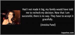 Amisha Patel Quote