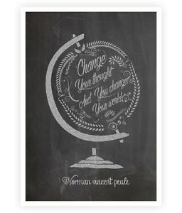 Change-your-thought-Norman-Vincent-Peale-Quote-Poster