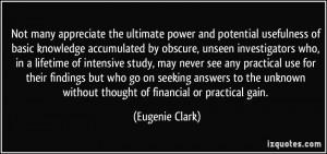 More Eugenie Clark Quotes