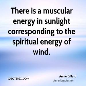 ... energy in sunlight corresponding to the spiritual energy of wind