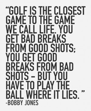 Golf Life Quotes
