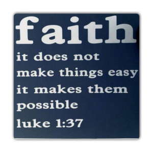 Bible Verse - Luke 1:37 - Religious Quote - Inspirational Verse 12