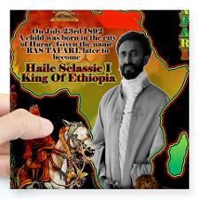 selassie africa Square Sticker 3