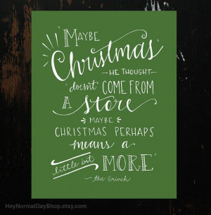 The Grinch Quote HandLettering Print by HeyNormalDayShop on Etsy, $10 ...