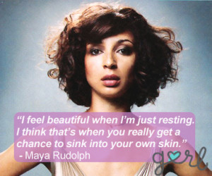Maya Rudolph Quote Grey Background