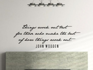 John Wooden Motivational Business Quote Wall Decal by MyVinylStory, $ ...