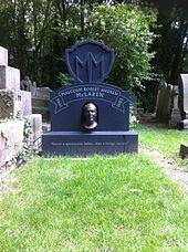 McLaren's grave in Highgate Cemetery .