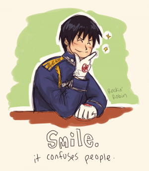 Smile - Roy Mustang by rockinrobin