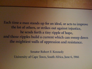 From a wall in the John F. Kennedy Museum:
