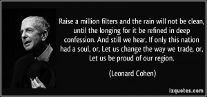 More Leonard Cohen Quotes