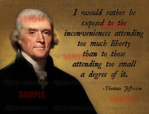 Thomas Jefferson Liberty Poster