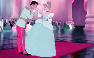 Cinderella and Prince Charming wallpaper