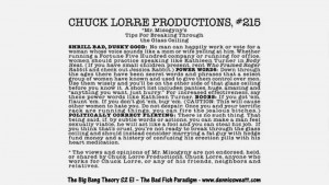 10 Chuck Lorre Vanity Cards From The Big Bang Theory