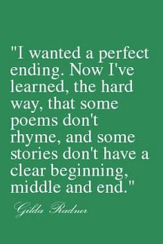 ... Rhyme, And Some Stories Don't Have a Clear Beginning, Middle and End