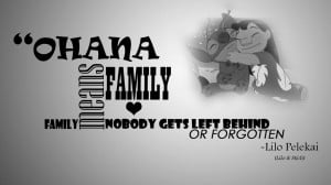 Lilo And Stitch Quotes This Is My Family Lilo and stitch wallpaper