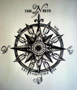 true_north_compass_tattoo_by_desertdahlia-d5o7v7i