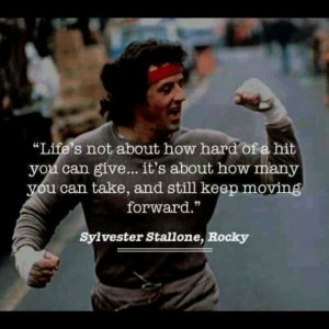 ... Rocky Balboa movie would have such an inspirational quote