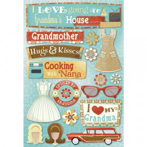 ... Acid and Lignin Free Scrapbooking Sticker Sheet, Classic Grandma