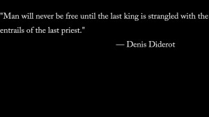 Denis Diderot anarchy atheism black background quotes wallpaper