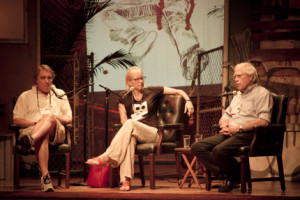 ... John Katzenbach, Laura Lippman, and John Sandford. Photo by Ian Rowan