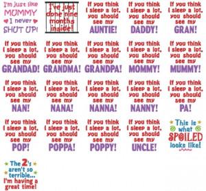 Baby Sayings Set #10