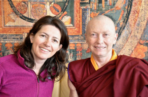 ... Buddhist women. Here she is with the author, Michaela Haas (Gayle M