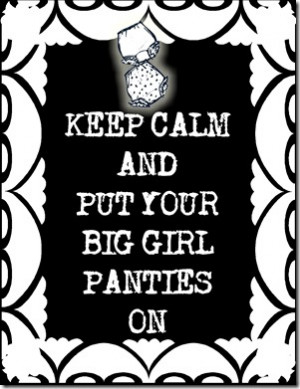 Big Girl Panties Printable