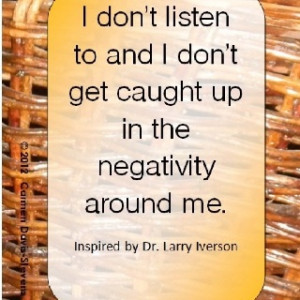 No negative vibes here!
