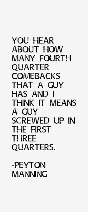 Peyton Manning Quotes