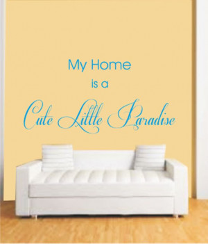 ... myRitzy Home Cute Little Paradise Living Room Wall Quotes-Wall Decals
