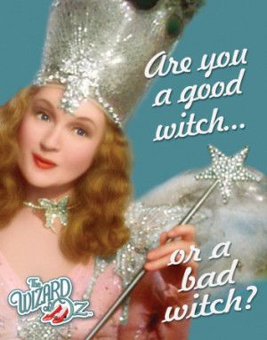 Wizard of Oz Good or Bad Witch - Buy this tin sign at AllPosters.com