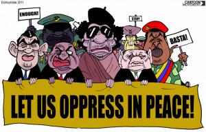 1st chapter: Gaddafi is an evil dictator