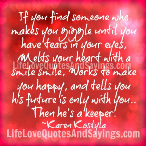 Works to make you happy,..