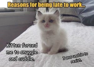 Reasons For Being Late To Work