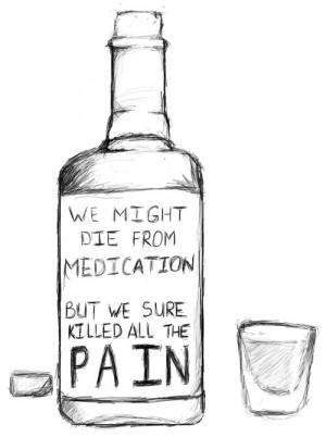 lyrics pain Sketch drinking bright eyes Lua medication self-medication