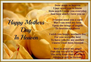 Happy Mother's Day In Heaven