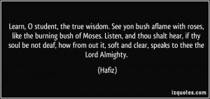 More Hafiz Quotes