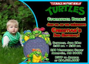 TMNT Ninja Turtles Birthday Party by FantasticInvitation on Etsy, $8 ...