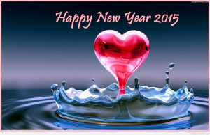 New Year 2015 3D Love Heart Water Drops 540x349 Happy New Year 2015 ...