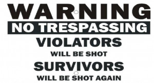 Warning violators survivors sign funny out HD Wallpaper