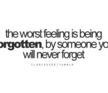 forgot, forgotten, love,