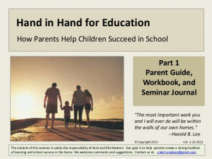 Parent seminar student guide -part 1--laying a foundation for learning