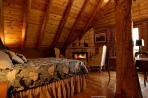 ... bedroom home tree warm decorate cozy log cabin corner fireplace